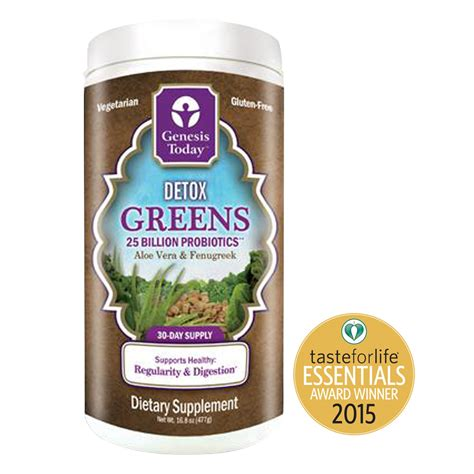 Genesis Fruit Detox by Genesis Today Detox Greens Aloe Vera Fenugreek 25
