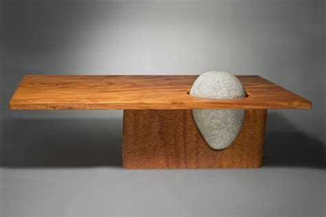 Creative Nightstands Natural Stone Tables Benches And Furniture Seth Rolland