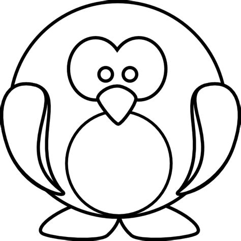 Penguin Clipart Outline by Penguin Outline Clip At Clker Vector Clip