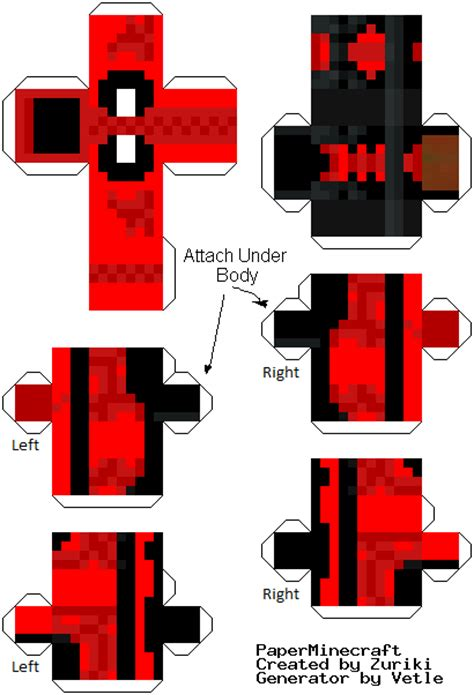 Minecraft Papercraft Deadpool - papercraft deadpool newer