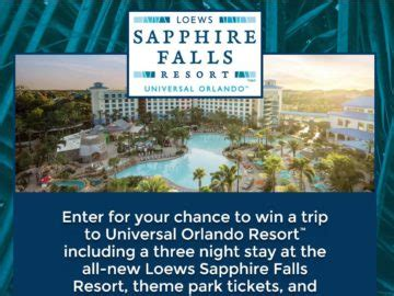 Resort Sweepstakes - the loews sapphire falls resort sweepstakes