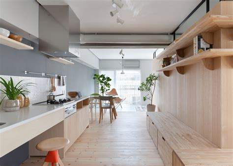 Japanese L Design by Two Apartments In Modern Minimalist Japanese Style