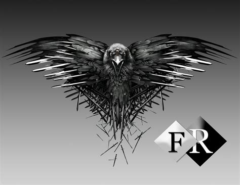 raven game of thrones render by ferdiferrah on deviantart