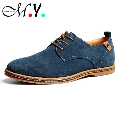 casual mens shoes shoes 2015 new suede genuine leather fashion