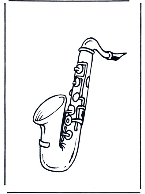 pin saxophone coloring page on pinterest