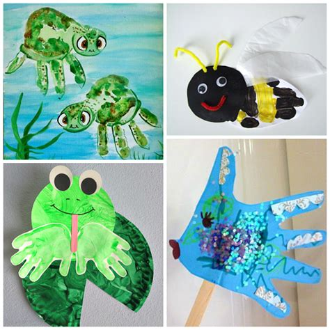 kid summer crafts summer handprint crafts for to make crafty morning