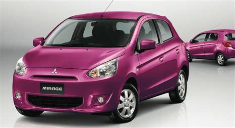 pink mitsubishi mirage mitsubishi mirage returns to australia with sydney motor