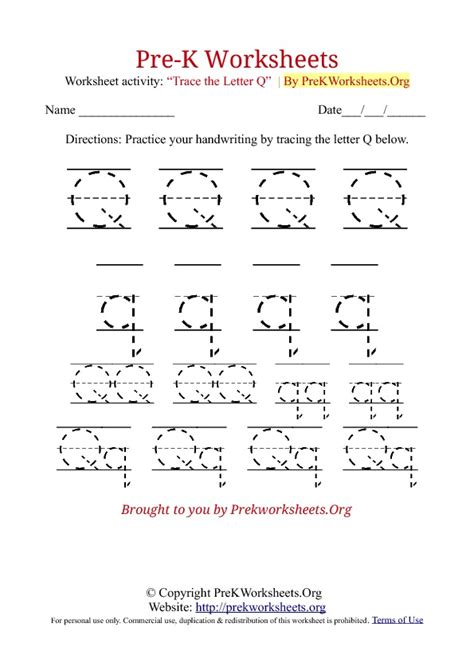 printable worksheets letter q 8 best images of printable tracing letter q worksheets