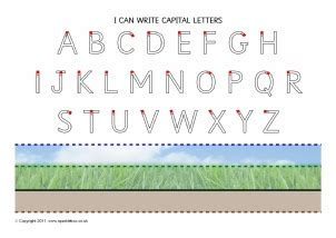 capital letter formation letter formation printable visual aids for early years