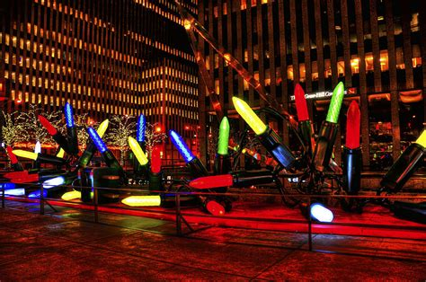 giant nyc christmas lights photograph by randy aveille