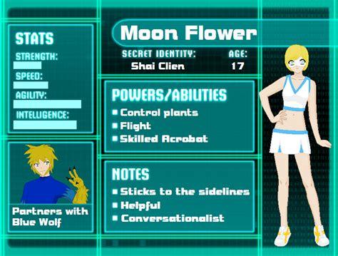 moon flower superhero oc by holly sandy on deviantart
