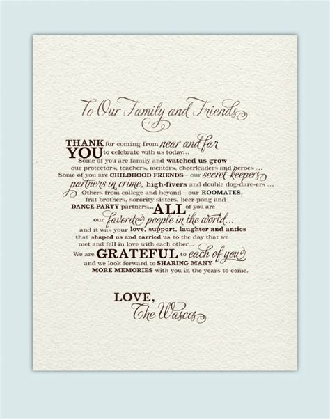 the design of wedding program thank you wording criolla thank you alter the wording beginning and end
