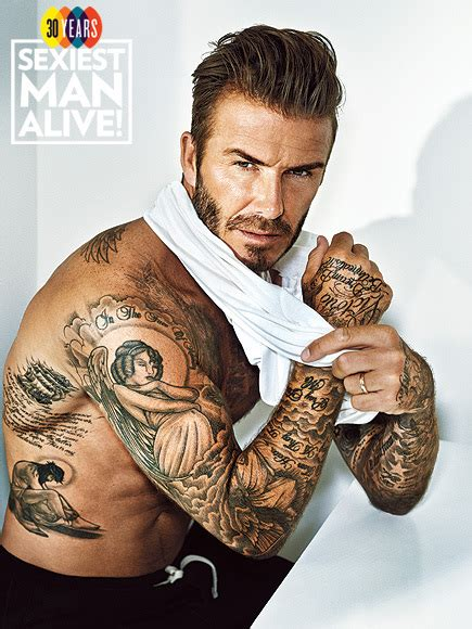 beckham palm tattoo david beckham sexiest man alive 2015 tattoo photos