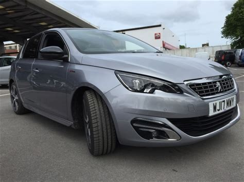 vospers peugeot showroom used 2017 peugeot 308 gt line auto in cumulus grey for