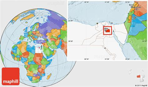 cairo on world map political location map of al qahirah cairo highlighted