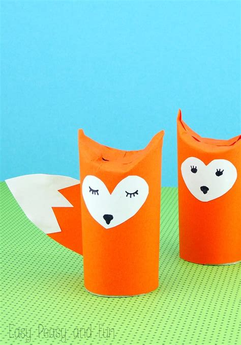 paper roll crafts toilet paper roll fox craft easy peasy and