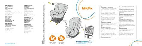 notice siege auto bebe confort mode d emploi bebe confort milofix si 232 ge auto trouver