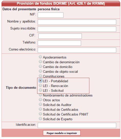 registro bienes muebles de barcelona solicitud renovaci 243 n cambio datos o portabilidad
