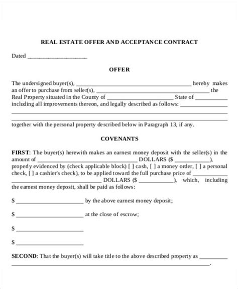 house offer letter template 8 real estate offer letter template 9 free word pdf