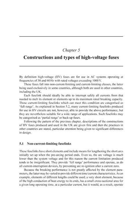 high voltage fuse construction iet digital library constructions and types of high