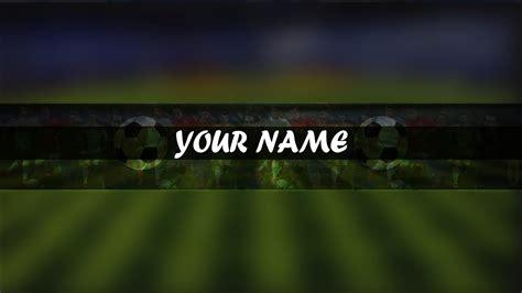 photoshop football soccer channel artbanner template