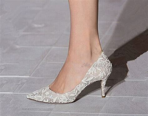 Brautkleid Schuhe by Wedding Shoes Lace Wedding Shoes Ivory Lace Wedding Shoes