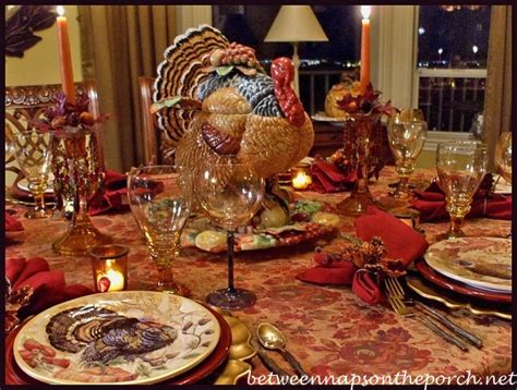 thanksgiving tablescape thanksgiving tablescape with turkey centerpiece and