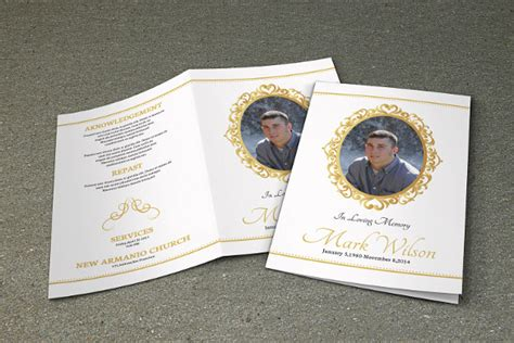 program brochure templates 19 funeral brochure templates vector eps psd