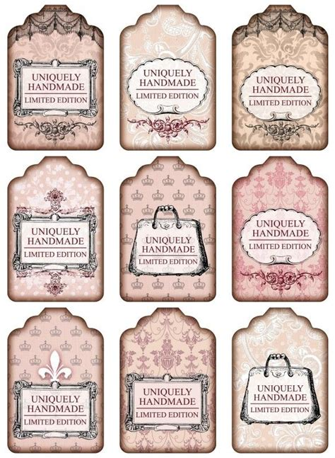 Nostalgische Aufkleber Marmelade by Sheet Shabby Handmade Pink Shabby Chic Nostalgie