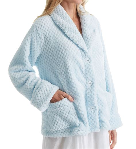fleece bed jacket la cera 100 polyester honeycomb fleece bed jacket 8825