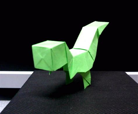 Origami T - origami block t rex by theorigamiarchitect on deviantart