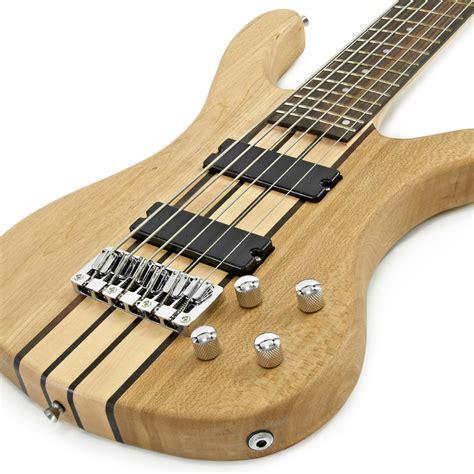 Jpin Neck Gitar Bass oregon 6 string neck thru bass guitar by gear4music b stock at gear4music