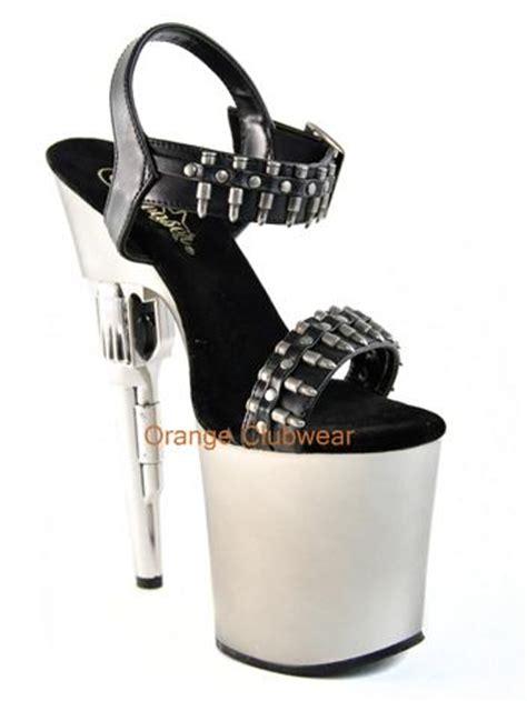 gun high heels pleaser bondgirl 712 womens bullet gun high