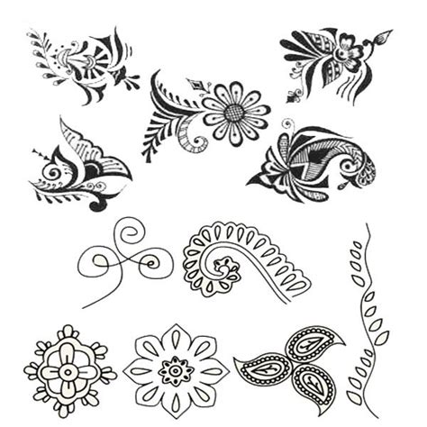 henna tattoo designs step by step simple henna pencil and in color simple henna