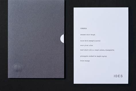 menu design melbourne new branding for ides by swear words bp o