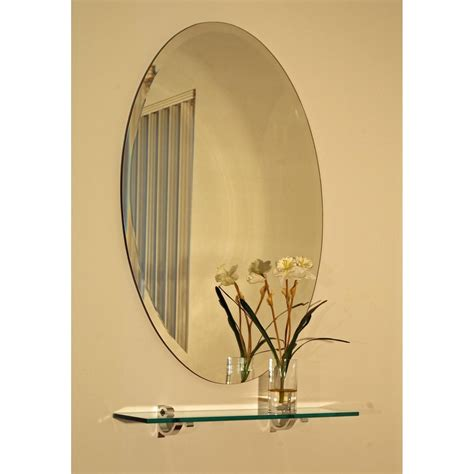 Luxury Frameless Extra Large 28 Quot Oval Wall Mirror Vanity | luxury frameless extra large 28 oval wall mirror