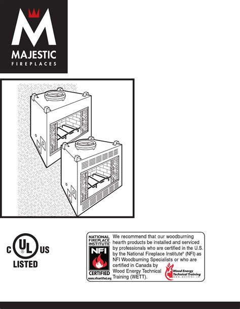Majestic Fireplace Manual by Majestic Appliances Indoor Fireplace Br36 User Guide