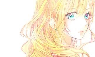 anime blonde hair blue eyes pretty we heart it anime anime and kawaii