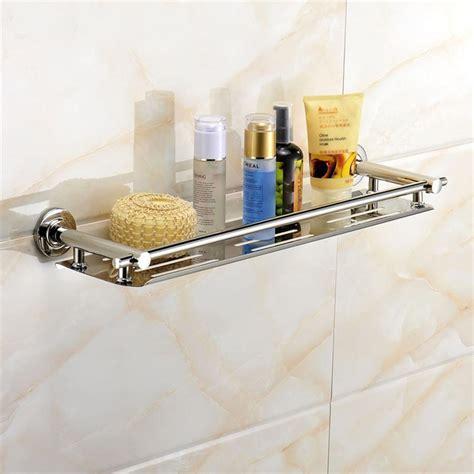 Bathroom Shower Shoo Cosmetic Holder Storage Shelf Bathroom Shower Shelves Stainless Steel