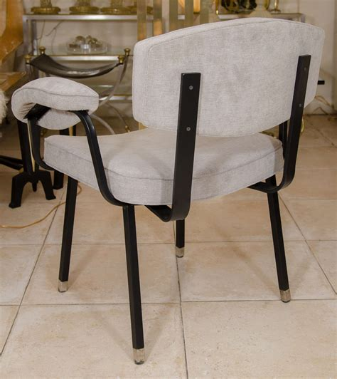 upholstered dining armchairs upholstered dining armchair with black enameled metal