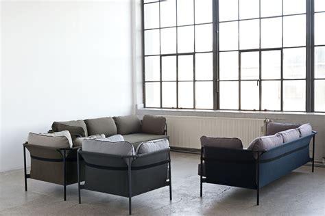 sofa can can straight sofa 3 seaters l 247 cm khaki black