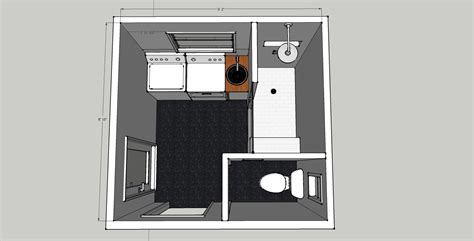 small bathroom layout with laundry brick house