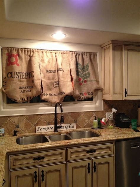 decorations burlap window treatments  cute interior
