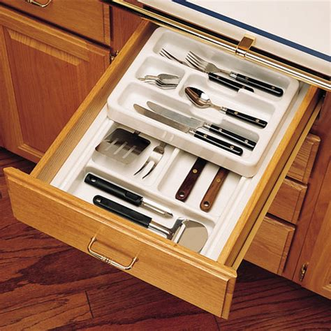 Kitchen Cabinet Organizer Drawers Drawer Organizers Rev A Shelf 2 Tier Insert Cutlery