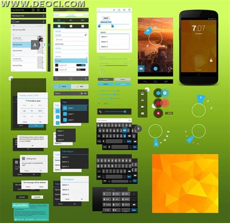 android app ui templates android 4 2 2 gui nexus 4 psd design templates layered