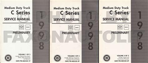best auto repair manual 1997 chevrolet g series 3500 electronic valve timing 1998 chevrolet gmc topkick kodiak preliminary repair shop manual original 3 volume set