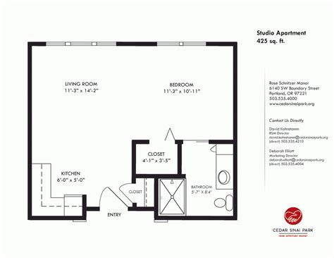 450 square feet 450 square foot apartment floor plan house design and plans