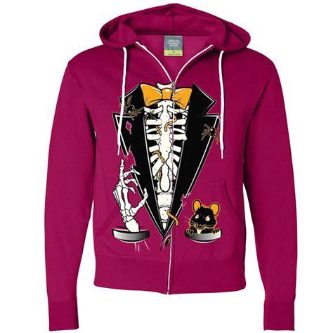 Hoodie Skeleton Zalfa Clothing skeleton ribcage tuxedo zip up hoodie ebay