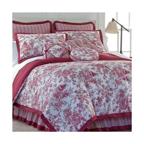 red toile bedding red toile bedding from j c penney home decor pinterest