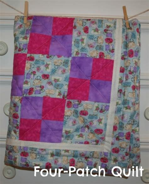 Easy Four Patch Quilt Pattern by Easy To Sew Quilt Tutorial Tip Junkie